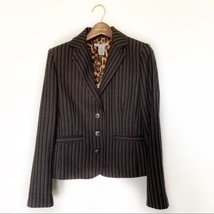 CAbi Joey Blazer Black Pin Stripe Size 6